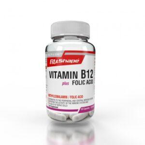 Βιταμίνη B12 + Φολικό Οξύ 30 Κάψουλες της Fit & Shape