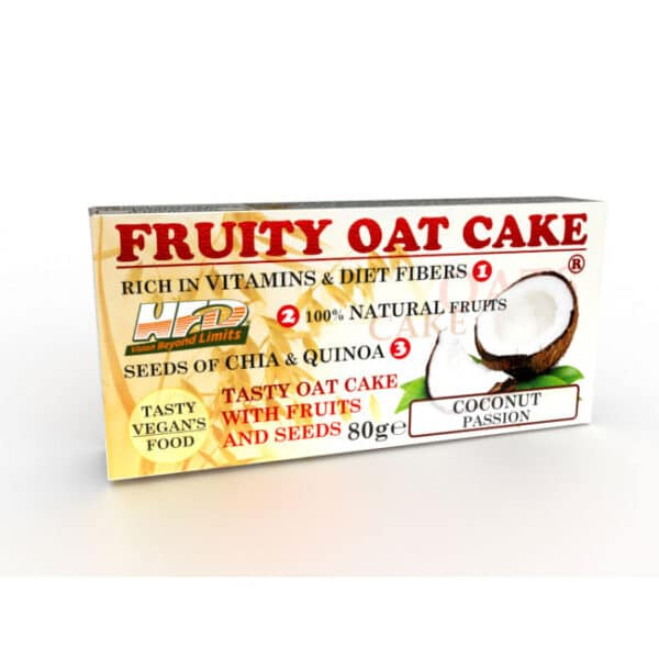 Ενεργειακή Μπάρα Πρωτεΐνης Fruity Oat Cake 80gr της Fit & Shape Fruity Coconut