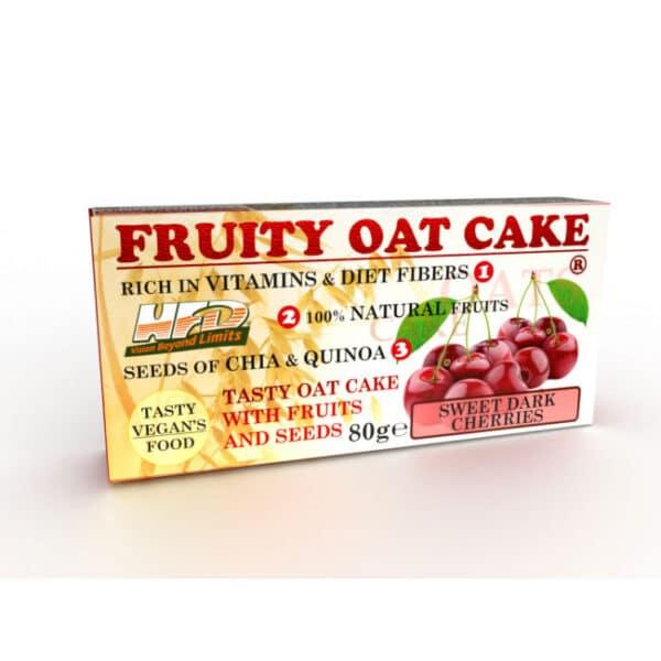 Ενεργειακή Μπάρα Πρωτεΐνης Fruity Oat Cake 80gr της Fit & Shape Sweet Darkc Cherries