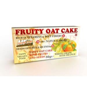 Ενεργειακή Μπάρα Πρωτεΐνης Fruity Oat Cake 80gr της Fit & Shape White Grape With Orange