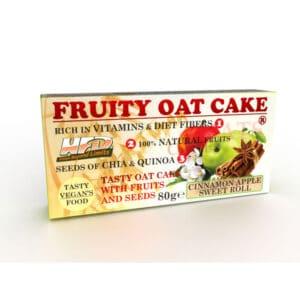Ενεργειακή Μπάρα Πρωτεΐνης Fruity Oat Cake 80gr της Fit & Shape fruityapple