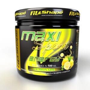 Ενεργειακό Ποτό σε Σκόνη MaxiSport® ENERGY 445gr της Fit & Shape Lemonade
