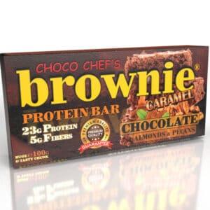 Μπάρα Πρωτεΐνης BROWNIE ® 100gr της Fit & Shape Caramel