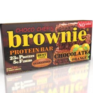Μπάρα Πρωτεΐνης BROWNIE ® 100gr της Fit & Shape Orange