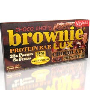 Μπάρα Πρωτεΐνης BROWNIE LUX ® PRO 100gr της Fit & Shape Chocolate Chestnuts