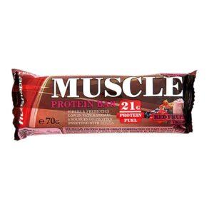 Μπάρα Πρωτεΐνης MUSCLE ® 70gr της Fit & Shape red Fruits Yoghurt
