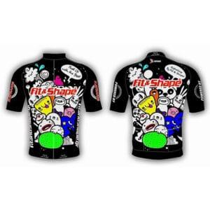 Μπλούζα Ποδηλασίας Jersey Comik Black