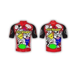 Μπλούζα Ποδηλασίας Jersey Comik Red