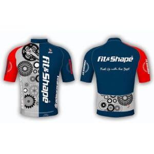 Μπλούζα Ποδηλασίας Jersey Gears Blue