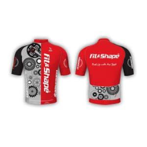 Μπλούζα Ποδηλασίας Jersey Gears Red