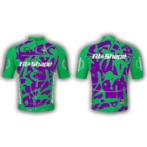 Μπλούζα Ποδηλασίας Jersey Graffiti Green