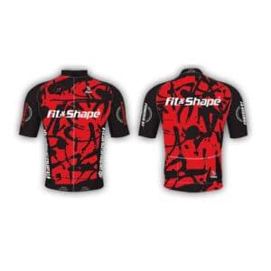 Μπλούζα Ποδηλασίας Jersey Graffiti Red