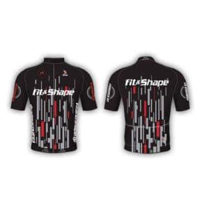 Μπλούζα Ποδηλασίας Jersey Matrix Red