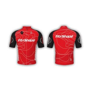 Μπλούζα Ποδηλασίας Jersey Red Waves