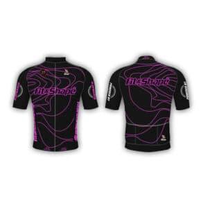 Μπλούζα Ποδηλασίας Jersey Waves Pink