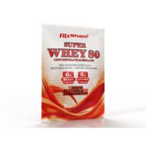 """Πρωτεΐνη σε Σκόνη, 30gr Φακελάκι """"Super WHEY 80"""" της Fit & Shape"""