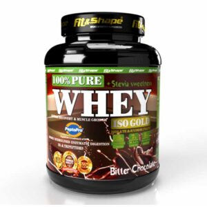Πρωτεΐνη σε Σκόνη Pure WHEY Iso GOLD + STEVIA 900g Bitter Chocolate