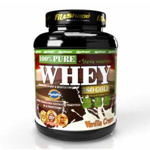 Πρωτεΐνη σε Σκόνη Pure WHEY Iso GOLD + STEVIA 900g Vanilla Cream