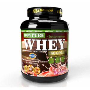 Πρωτεΐνη σε Σκόνη Pure WHEY Iso GOLD + STEVIA 900gr Raspberry Strawberry
