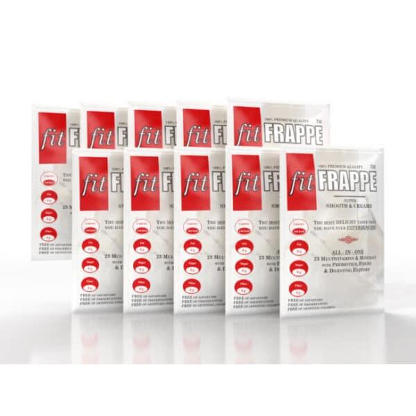 Ρόφημα Πρωτεΐνης fitFRAPPE® 10 x 40gr της Fit & Shape Sachets