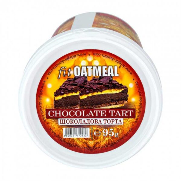 fit oatmeal chocolate tart