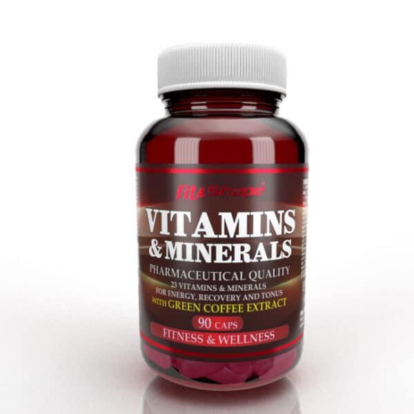 Πολυβιταμίνη VITAMINS & MINERALS 90 Caps της Fit & Shape