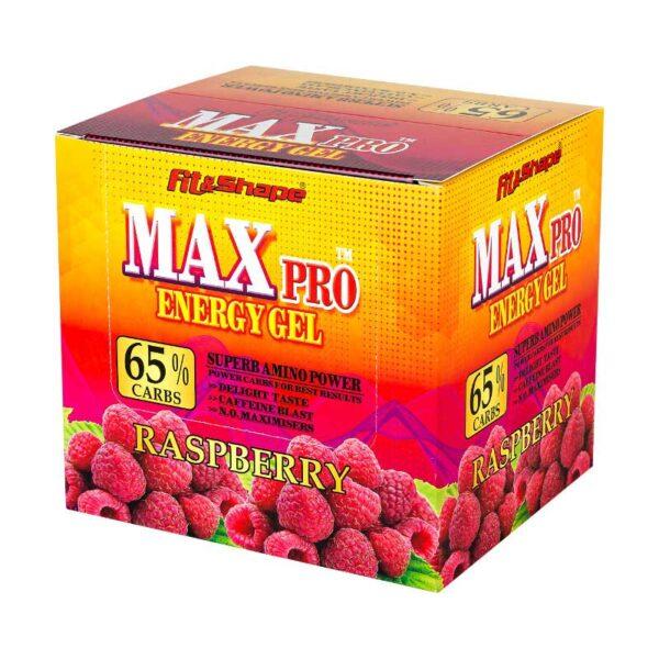 max pro energy gel raspberry