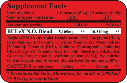 Fit & Shape BULeX CORE®---Προεξασκητικό-Αμινοξέων Tropical Passion 314gr διατροφικος πινακας