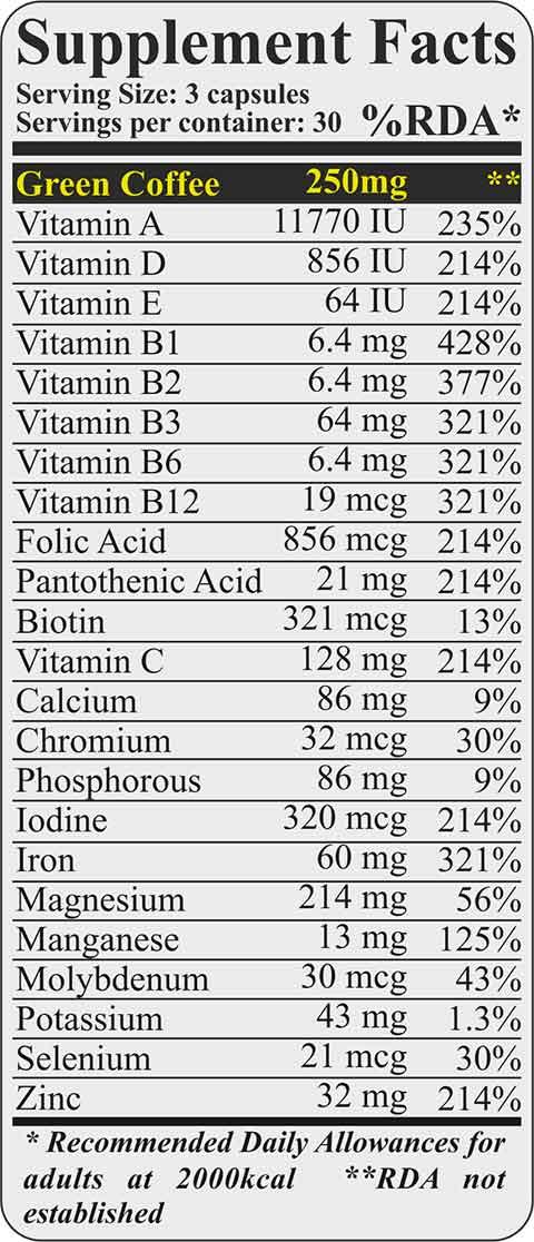 Fit & Shape VITAMINS & MINERALS - Πολυβιταμίνη - 90 caps διατροφικα συστατικα