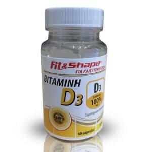 Βιταμίνη D3 100mcg 60 Κάψουλες της Fit & Shape